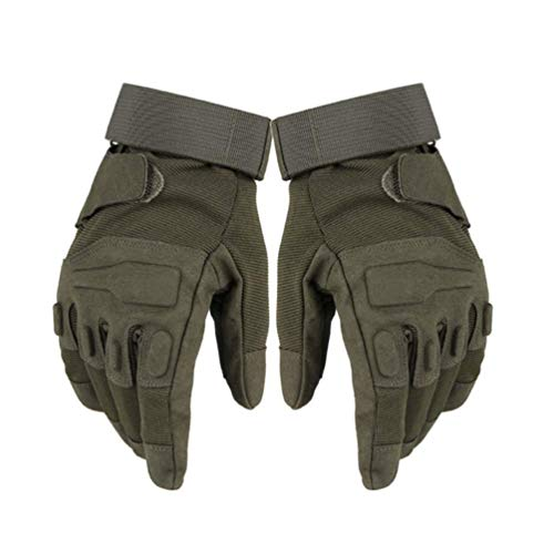 QYHT Taktische Handschuhe, Motorradhandschuhe Herren Vollfinger Handschuhe militär Paintball Handschuhe Winddicht, Militär, Paintball, Airsoft, Jag (Army Green,XL)