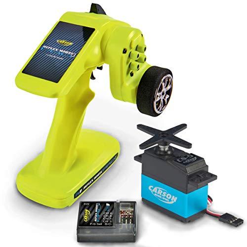 Carson Reflex Wheel PRO 3 2.4G + CS5 Servo, Fernsteuerung, mit Empfänger, Sender, Modellbau, Zubehör für RC Fahrzeug/ferngesteuertes Auto, 500500057