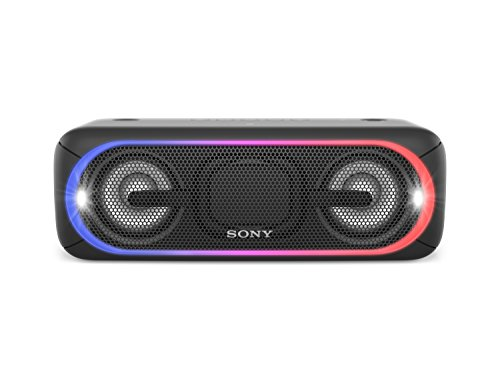 Sony SRS-XB40B - Altavoz inalámbrico portátil (Bluetooth, NFC, Extra Bass, 24 Horas de batería, Wireless Party Chain, luz Lineal Multicolor, Flash estroboscópico) Color Negro