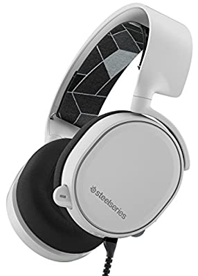 SteelSeries Arctis 3 Legacy Edition, All-Platform Gaming Headset for PC/Mac/PlayStation 4/Xbox One/Nintendo Switch/Mobile/VR - White