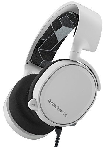 SteelSeries Arctis 3, Gaming Headset, 7.1 Surround for PC, Software Management, (PC / Mac / Playstation / Nintendo Switch / Mobile / VR) - White
