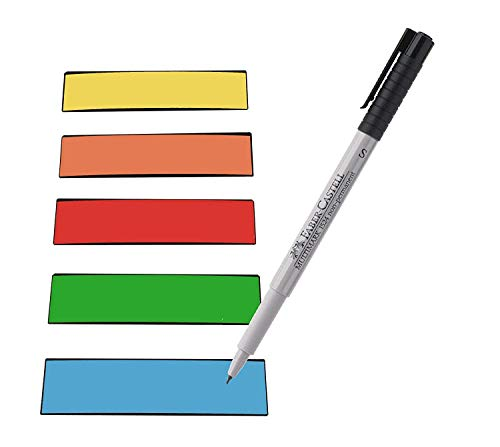 Magnetstreifen Etiketten bunt 100x30 mm - 25 Stück - beschreibbar incl. Stift