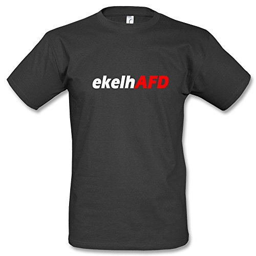 ekelhAFD T-Shirt Schwarz Blau Gelb Grün (L, Schwarz)