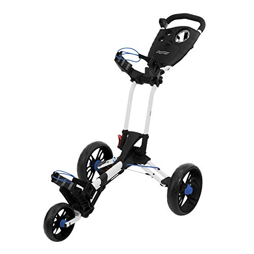 Bag Boy EZ-Walk Push Cart, White/Cobalt
