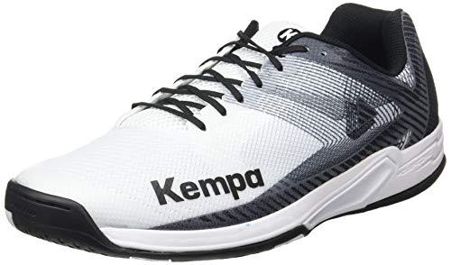 Kempa Herren Wing 2.0 Handballschuhe, Mehrfarbig (weiß/schwarz 03), 39 EU