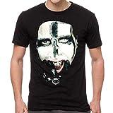 H3 SPORTGEAR Marilyn Manson Men's Kill for Me T-Shirt, Black , Large