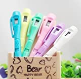 Set of 6 Cute Electronic Clock Ball Point Pen Gifts Prizes for Kids Civil Servants School Office