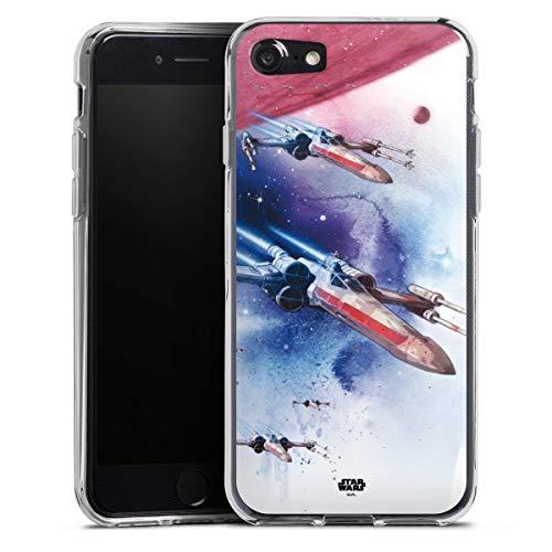 DeinDesign Silikon Hülle kompatibel mit Apple iPhone SE (2020) Case transparent Handyhülle Star Wars Fanartikel X-Wing