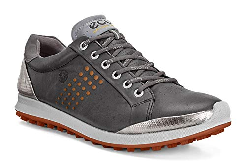 Ecco ECCO Herren Men's Golf Biom HYBRID 2 Golfschuhe, Grau (50027DARK Shadow/ORANGE), 45 EU