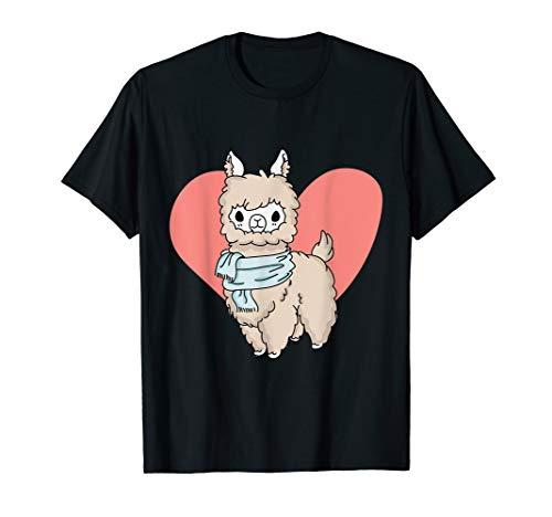 Süßes Lama Lama Alpaka Design T-Shirt