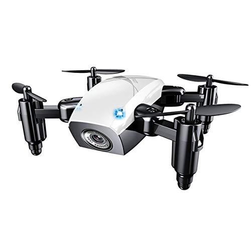Mallalah S9HW Mini Drone con cámara HD S9 plegable RC Quadcopter altitud helicóptero WiFi FPV Micro bolsillo Dron No Cámara size No Cámara (blanco)