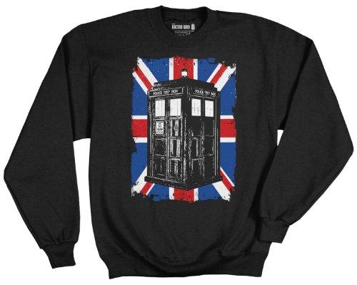 Doctor Who Union Jack Fleece Pullover Sweatshirt | 2XL