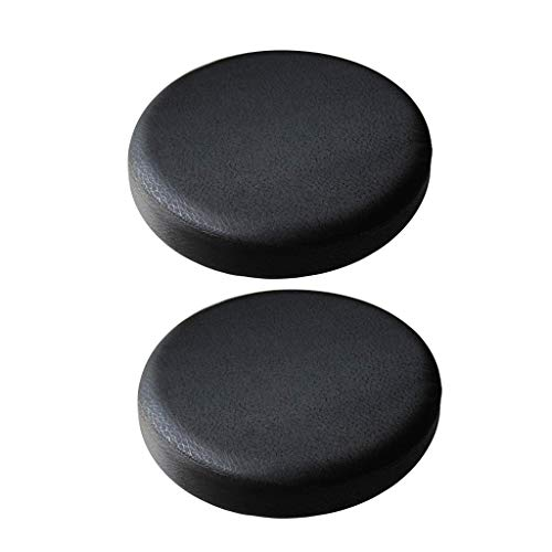 Fenteer 2Pack Black_35x10cm Non-slip Bar Stool Cover Round Lift Chair Seat Sleeve Band Height 10cm Home Fashions