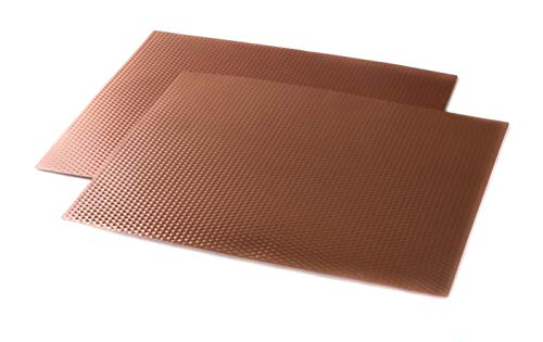 "Copper Counter/Table Protector Mat - 17"" x 20"" - 2 Pack"