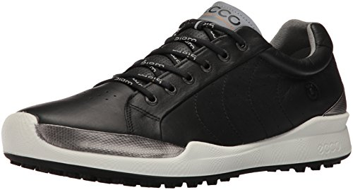 ECCO Men's Biom Hybrid Hydromax Golf Shoe, Black/Black Solid, 45 M EU (11-11.5 US)