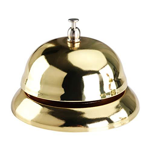 Toyvian Handglocke Tischglocke Tischklingel Glocke Antwort Buzzer für Büro Klassenzimmer Rezeption Restaurant Hotel & Bar Service(Golden)