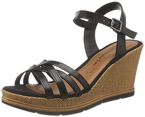 Tamaris Femmes Sandale à Talon 1-1-28042-26 001 Noir Normal Taille: 38 EU