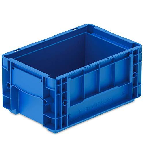 VDA-RL-KLT 3147, 300 x 200 x 147 mm, Kleinladungsträger mit Ablauflöchern, Stapelbehälter, Transportbox Industrie, 1 St, Blau