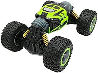 HYPER ACTIVES STUNT CONTROL TWO SIDED ROLLING RC ALL TERRAIN CAR-GREEN