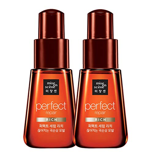 [Mise en Scene] Heavy Damaged Hair Perfect Repair Rich Oil Serum 2.4Oz/70ml (2-pack) / Highly concentrated nourishing oil care