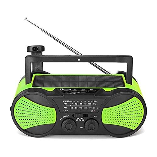 ELXSZJ XTZJ Radio Tiempo  Radio Solar de manivela - Pantalla LCD - Estaciones de Radio Am/FM  Linterna LED de Emergencia, señal SOS, Cargador de teléfono Celular de 2000 MAH