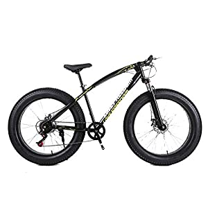 Cruiser Bikes YBCN Fat bike, off-road beach snowmobile 26 inch 27 speed shift VTT hard tail 4.0 big tires adult outdoor riding