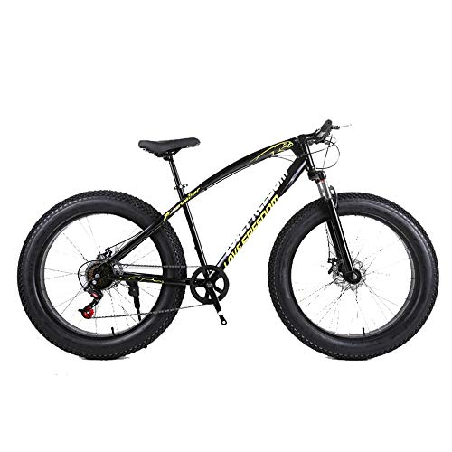 DRAKE18 Fat Bike, 26 Pollici Cross Country Mountain Bike 21 Speed Beach Snow Mountain 4.0 Grandi Pneumatici per Adulti Outdoor Riding,Black