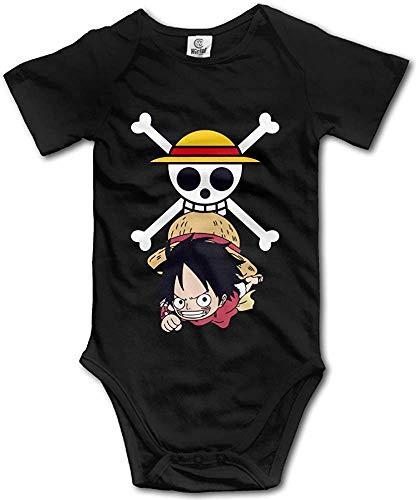 FGRFQ Combinaison Bébé Cartoon Anime Luffy Logo Baby Onesie T Shirt Baby