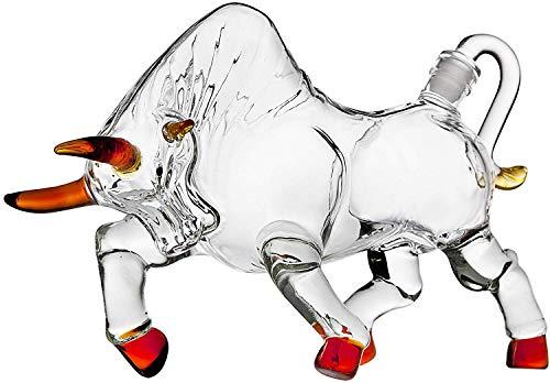AJMINI De wijn koe vorm likeur Decanter Gemaakt voor Bourbon, Whiskey, Scotch, Rum of Tequila 500ml/1000ml