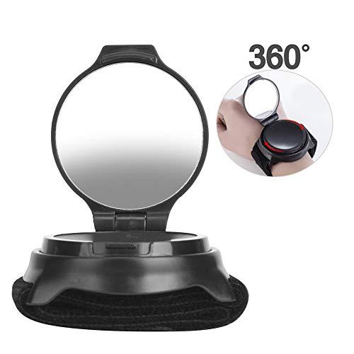 Jacksking Fahrradrückspiegel 360 Grad drehbarer Retroreflektor Fahrradzubehör Fahrradausrüstung mit Armband für Mountainbike