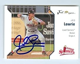 Autograph 123985 Boston Red Sox Houston Astros Star Ft 2006 Just Minors No. 35 Lowell Spinners Jed Lowrie Autographed Baseball Card