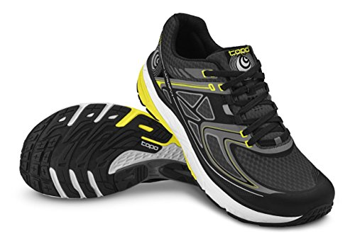 Topo Athletic Men's Ultrafly Running Shoe Black/Yellow 11
