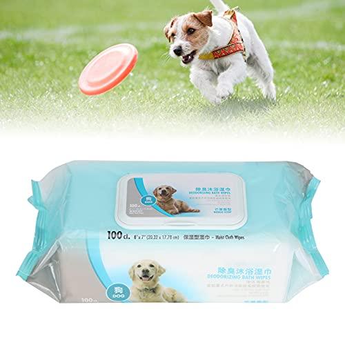 Toallitas para mascotas, artículos para mascotas Aseo Toallitas para mascotas Toallitas para mascotas Toallitas para mascotas Portátil Suave para limpiar(Dog bath towel 100 pumps)