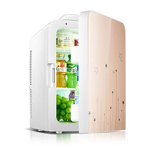YICHEN Mini Refrigerador 20L Mini Nevera Nevera Portátil para Uso De Alimentos, Bebidas, Cuidado De La Piel En El Hogar, Oficina, Dormitorio, Automóvil, Barco,Oro