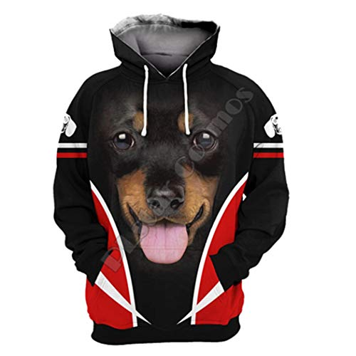 Mens Funny French Bulldog Dog 3D Print Hoodies Long Sleeve Sweatshirts Women Pullover Tracksuit Hoody Spring Outwear Ivory XL
