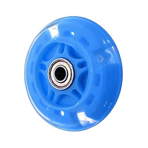 8PCS Flash Light Patines en línea Ruedas 82A Iluminación LED Ruedas de Patinaje Slalom Neumáticos deslizantes con magnético,Azul,64MM