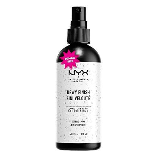 NYX Professional Makeup Setting Spray Dewy, Vegane, langanhaltende und leichte Formel, Fixier-Spray, Taufrisches Finish, Maxi Größe, 180 ml