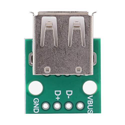 Placa de conexión Hembra USB de 10 Piezas, Placa de conexión USB Hembra, 4 Pines para diseño de Placa de Pruebas, Ordenador, hogar, Fuente de alimentación USB para Bricolaje