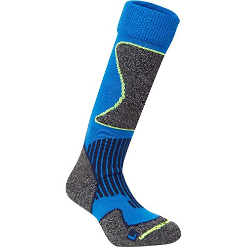 McKINLEY Chaussettes New Nils Mixte Enfant, Blue Royal/Yellow, FR : XXS (Taille Fabricant : 23-26)