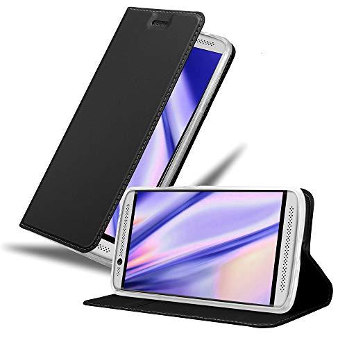 Cadorabo Hülle für ZTE Axon 7 Mini in Classy SCHWARZ - Handyhülle mit Magnetverschluss, Standfunktion & Kartenfach - Hülle Cover Schutzhülle Etui Tasche Book Klapp Style
