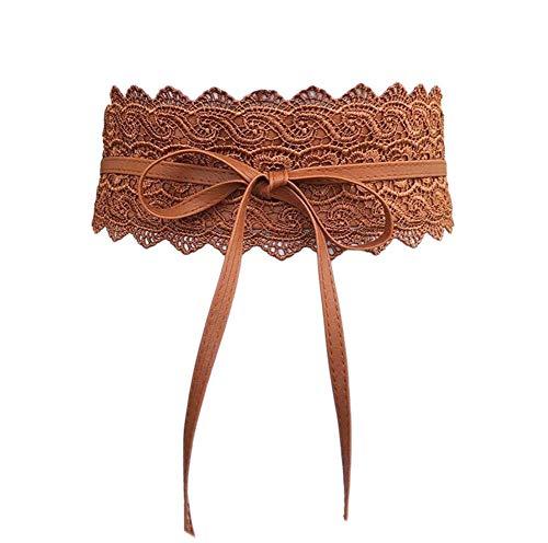 Oyccen Mujeres Cinturones de Encaje Anchos Vestido Decoración Cinturón Bowknot Pretina Faja