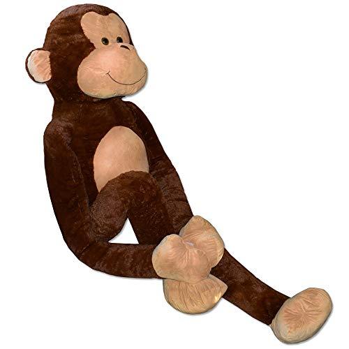 TE-Trend Riesen Plüschaffe XXL Kuscheltier AFFE Groß Plüschtier Kuschelaffe Monkey Stofftier 250cm Braun