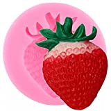 ANGYANG Strawberry Silicone Mold Chocolate Fondant Mould Baby Birthday Cake Decorating Tools Resin Polymer Clay Candy Moulds