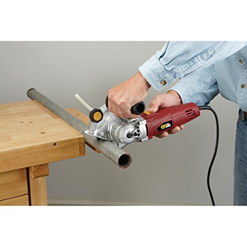 New No-Kickback Unique Laser Counter Rotating 5 In. Blades 7.5 Amp Heavy Duty Double Cut Saw Twin Blades