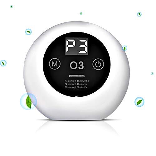 Mini Generador de Ozono, Purificador de Aire Portátil con Enchufe, Máquina de Ozono Doméstico para Eliminar Olores, Esterilizador de Ozono para Habitaciones, Oficina, Baños, Cocinas, Armarios etc.