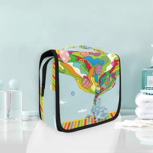 Maquillage sac de maquillage portable lapin arc en ciel rêve voyage pochette de rangement sac de toilette pour femmes dame
