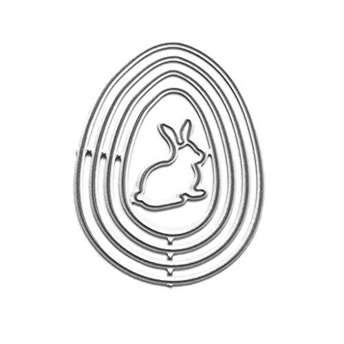 Ei konijntje metaal stansvormen sjabloon voor doe-het-zelf scrapbooking album stempel papier kaart reliëf decor Craft van Lsy0123