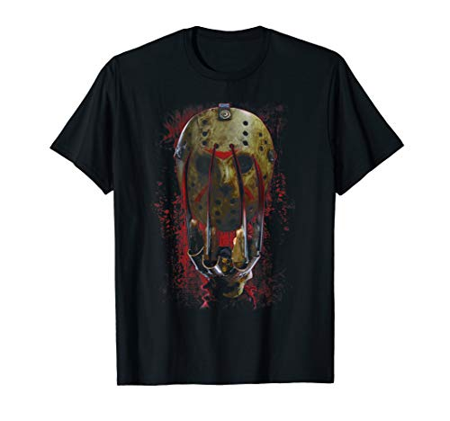Freddy vs Jason Mask and Claws T-Shirt
