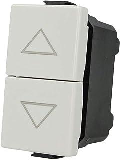 SANDASDON SD61002 Pulsante Doppio Tasto Saliscendi 1P+1P 16A Bianco Compatibile Bticino Matix