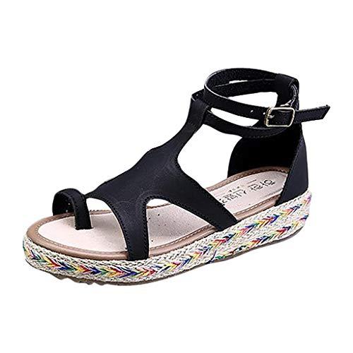 Nuevo! Sandalias para Mujer Verano Romanas 2019 Zapatos de Fiesta Mujer Elegantes Grandes Calzado de Vestir Plano Playa Primavera Dama Escuela 35-43 EU
